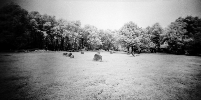 Rollei Infra Red Shot of 9 Grey Ladies Stone Circle