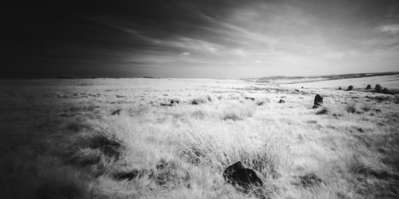 Rollie Infra Red Shot of Barbrook I Stone Circle