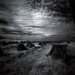 Uist peat drying  in Infra Red