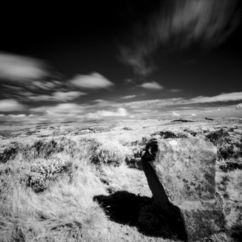 Wet Withins Stone Circle using Rollei Infra red film