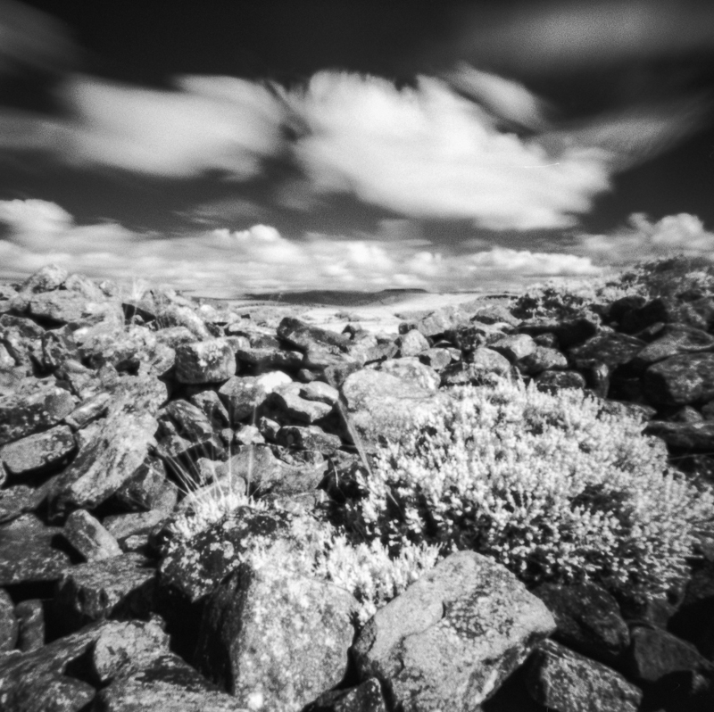 Wet Withins Long Barrow using Rollei Infra red film